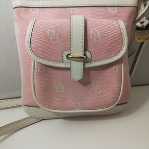 Pink Dooney and Burke crossbody purse